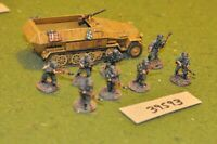 28mm WW2 / german - section & half track (as photo) - inf (39593)