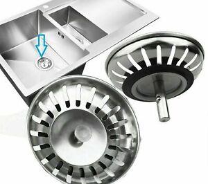2 x Premium Replacement Kitchen Sink Strainer Waste Plug Basin Drain Filter