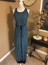 The Impeccable Pig NWT Stunning Jade Summer Maxi Sleeveless Dress Size S