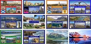 FRIDGE MAGNET - SCOTLAND (Various) Large , Tourist Scottish Landmarks