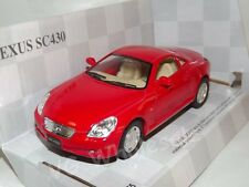 "Lexus SC430 Red Die Cast Metal Model Car 5"" Kinsmart Collectable New"