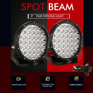 Pair 9 inch OSRAM SPOT LED Driving Lights 4x4 Round Spotlight Fog Headlight Work