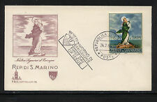 San Marino  cachet first day cover  1966         KL1119