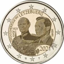 2Euro Gedenkmünze Luxemburg 2021 100.Geburtstag d. Großherzogs Jean Foto Prägung