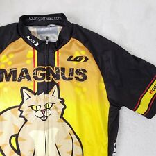 RARE Louis Garneau Cycling Jersey Zip Portland Bike Shop Cat Race Souvenir Sz M