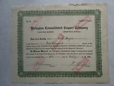 Yerington Consolidated Copper Company   1911 Utah Corporation