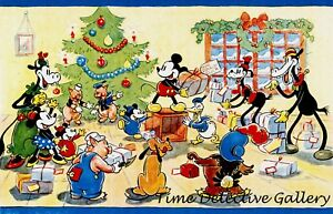 Vintage Disney Mickey Mouse Christmas Poster 1935 - Available in 5 Sizes