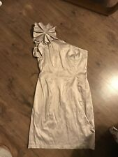 Gold One Shouldered Sz12 Dress By Red Herring At Debenhams Occasion Party Weddin