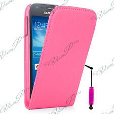 Carcasa PU Auténtico ROSA Samsung Galaxy Trend Lite S7390 S7392 + Lápiz óptico
