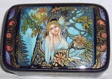 "Russian Lacquer box Palekh "" Oak Fairy "" miniature Hand Painted"