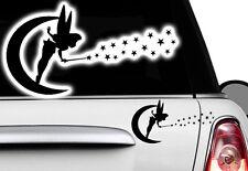 1x Fee 30x16cm Elfe Autocollants Pour Voiture Étoiles Étiquette Fleurs Fairy