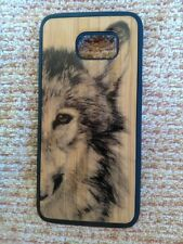Wolf on Bamboo Decorative Protective Cover Case for Samsung Galaxy s7edge
