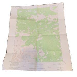 "Vintage 1953 Dept. Of Interior Map - Cony Mountain Wyoming - 22"" x 27"" Topo"