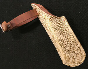 Flag Boot - Single Strap Style - Gold Snake Print - Made in US (F206)