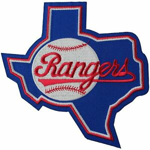 Texas Rangers State Logo Throwback Jersey 1984-93 MLB Emblem Sleeve Patch