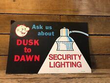 Vintage Reddy Kilowatt Sign Light Lamp Security Electric Antique Gulf Gas Pump