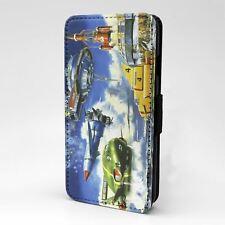 Para Apple iPod táctil Abatible Estuche Cubierta Retro Thunderbirds-T877