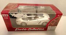 MotorMax Exotic Collection Lamborghini Concept S 1:24 White Diecast Car Model