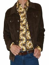 Retro vtg 70s indie SHIRT 60's Wallpaper Psychedelic Mod s m l xl Yellow Brown