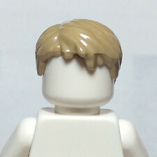 NEW LEGO - Figure Hair - Male - Short Side Part Tan Dark x 1 - Manuel Neuer DFB
