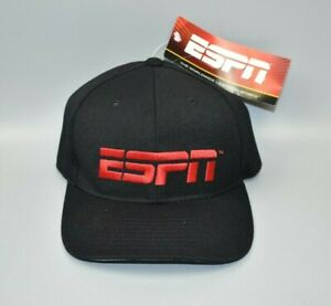ESPN Network Flex Fit Men's Fitted Cap Hat - Fits Head Size: 7 1/4 to 7 5/8