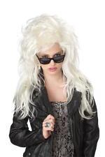 Jailbait Bombshell Rock Star Punk Rock Adult Costume Wig Blonde