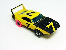 Aurora AFX Dodge Daytona Charger Yellow/Black #7 Nice Running With Full Wing
