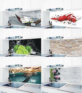 Küchenrückwand  1000 Motive Spritzschutz glänzend Alu