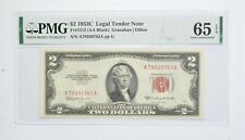 1953-C $2 FR#1512 (AA Block) Red Seal Graded PMG - 65 EPQ Legal Tender *809