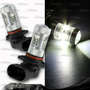 1x Pair Buick Chevy Acura BMW 9005 HB3 30 watt 6 LED White Projector Bulbs