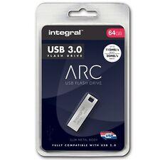 Integral Metal ARC 64GB USB 3.0 Capless Flash Drive INFD64GBARC3.0