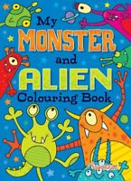 MY MONSTER + ALIEN A4 COLOURING BOOK KIDS CHILDREN'S WHITE PAPER 72 PICTURES