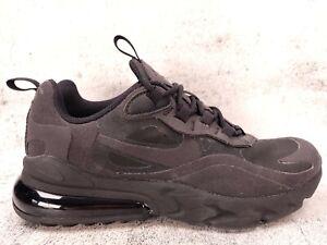 Nike Air Max 270 React Sneakers Womens Size 5.5 (4Y) Triple Black BQ0103-004