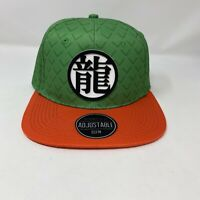 NWT Dragonball Z Anime Goku Snapback Hat Cap Green Orange One Size Bioworld