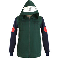 Anime Naruto Kakashi Hoodie Sweatshirt Cotton Cosplay Costume Coat Size XS-XXL