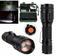CREE XM-L T6 LED Zoomable 18650 Flashlight Torch USB Rechargeable 5000LM Lamp UK