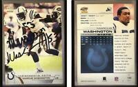 Marcus Washington Signed 2002 Pacific #199 Card Indianapolis Colts Auto Autograp