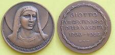 MEDAGLIA GETTONE TOKEN - 1966 CENTENARIO NASCITA DI GIOTTO / MADONNA IN MAESTA'