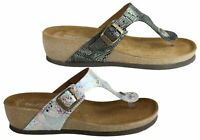 Florance 39610 Womens Leather Comfort Thongs Sandals Made In Italy - ShopShoesAU