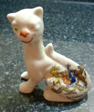 Goss Porcelain Arcadian Crested China Cheshire Cat with Chester Crest