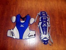 "Mizuno Pro Adult Baseball Catcher's Gear Set NEW Royal Chest 16"" Shin 16.5"""