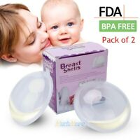 2 Breast Shell & Milk Catcher for Breastfeeding Relief 2 in 1 Protector BPA Free