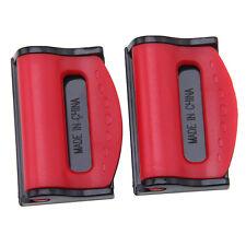 2pcs Auto Safety Seat Belt Adjuster Clip Stopper Buckle Improves Comfort Red