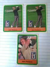 1981 Donruss Jack Nicklaus #13 Rookie and 2 Nicklaus Statistical leader cards