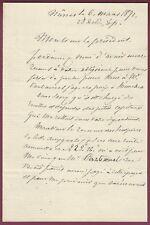 French Manuscript Legal Letter, 1871