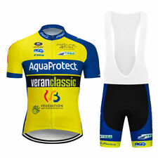 YQ015 Men Team bicycle dh Cycling Short Sleeve Jersey and bib Shorts sport clot