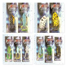(10) Vicious Fishing Topwater Vf Frog Vf40, Vf50, Vf60, Vf70 Assorted Lot #1 New
