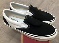 Vans Classic Slip On 9 Anaheim Factory Black White Sz 11 NIB