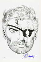 1980s Joe Sinnott Nick Fury Pencil Commission Sketch Signed 11x17 Print (JSA)