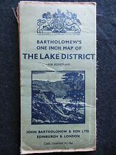 Vintage Bartholomew Folding Map of the Lake District - c1930s - Cumbria/North UK